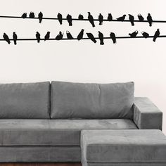 $60 My design inspiration: Birds On A Wire Decal on Fab.
