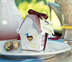 Bird House Favor Box - Set of 12 from Wedding Favors Unlimited