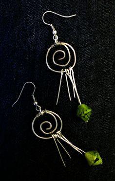 Wire earrings / Kolczyki ze srebrnego drutu miedzianego