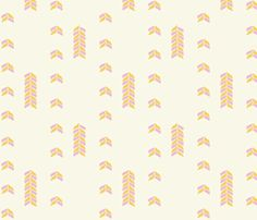 Arrows, Cream fabric by eastmeetwest on Spoonflower - custom fabric