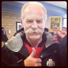 Lanny McDonald (and his moustache) taking part in this weekend! Lanny Mcdonald, Hockey, Moustache, Canada, Day, Cards, Mustache, Field Hockey, Moustaches