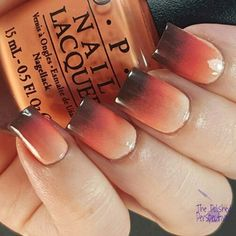 Fall gradient.  #nails #nailart #fallnails - For more beauty, makeup, and nail art ideas and tips, go to www.sparkofallure.com