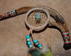 Native American Talking Stick   Deer Antler - Spirit / Talking Stic k Decorated in Native American ...
