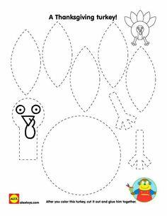 turkey printable for thanksgiving turkey birdturkey craftpreschool