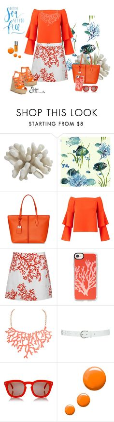 """""""Orange You Glad Summer is Coming?"""" by shalysa ❤ liked on Polyvore featuring Tod's, Miss Selfridge, Andrew Gn, Casetify, Humble Chic, M&Co, Dsquared2, Topshop and Kjaer Weis"""