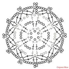 Снежинки крючком, схемы. Большая подборка № 1 - Страна Мам Crochet Diagram, Crochet Patterns, Crochet Stars, Rubrics, Doilies, Free Pattern, Diy Crafts, Knitting, Stitches