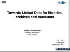 towards linked data for libraries, archives, and museums