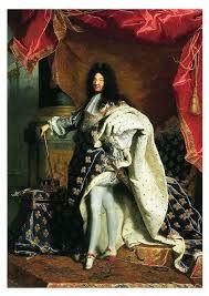 Lodewijk XIV (1638-1715) In 1643 werd de vijfjarige Lodewijk XIV koning van Frankrijk, met zijn moeder als regentes. De feitelijke macht was van Mazarin, de eerste minister van Frankrijk. Na de dood van Mazarin in 1661 viel de macht volledig in handen van Lodewijk XIV. Door de ervaringen uit zijn jeugd was hij ervan overtuigd dat hij gekozen was door God zelf, dus regeerde hij op basis van het Droit Divin, het goddelijke recht.