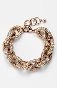 Rose gold sparkle bracelet