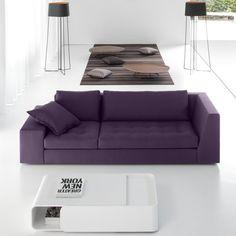 canapé modulable contemporain lilas de design original