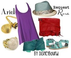 Adorable disney bound outfit for Ariel... love it! But without the hat