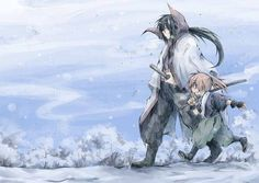 (Rurouni Kenshin) Seijuro Hiko XIII and Kenshin Himura Kenshin Y Kaoru, Kenshin Anime, Kenshin Le Vagabond, Anime Manga, Anime Art, Samurai Anime, Samurai Champloo, Takeru Sato, Manga Illustration
