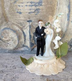 antique wedding cake topper by histoireancienne on Etsy, $115.00