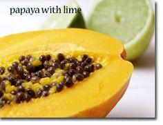 Papaya with Lime