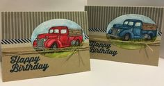 Birthday Trucks by Misty8>Stampin - Cards and Paper Crafts at Splitcoaststampers