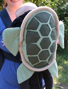 Sea Turtle Shell Baby Carrier Accessory Bjorn Cover with Huge Storage Pocket.  via Etsy.  NaturallyCraftyShop.Etsy.com