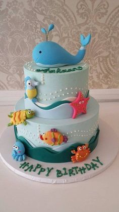 Under The Sea Birthday Cake By Nunuk - (cakesdecor)