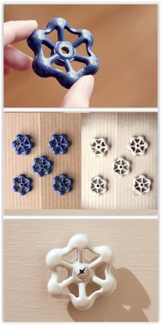 Knobs That Are Full Of Style Faucet handles as dresser pulls & towel hooks.Faucet handles as dresser pulls & towel hooks. Nautical Bedroom, Nautical Bathrooms, Diy Bedroom, Nautical Theme, Nautical Dresser, Bedroom Ideas, Bedroom Crafts, Trendy Bedroom, Master Bedroom