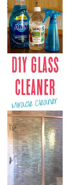Homemade Glass Cleaner with Vinegar! miracle cleaner - Homemade Glass Cleaner with Vinegar Recipe! This is the BEST miracle cleaner, and works so much better than store bought versions. Streak free and saves so much money! Window Cleaner Streak Free, Best Window Cleaner, Best Glass Cleaner, Homemade Glass Cleaner, Homemade Cleaning Supplies, Cleaning Recipes, Diy Cleaning Products, Cleaning Hacks, Cleaning Solutions