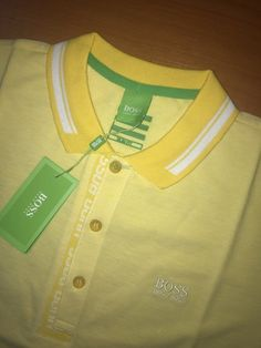Hugo Boss Green Slim Fit Paule 4 T shirt Polo size M Color Yellow and White M Color, Hugo Boss, Polo Ralph Lauren, Slim, Yellow, Fitness, Mens Tops, T Shirt, Fashion