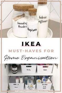 Trendy Home Organization Ideas Clutter Organisation Organisation Ikea, Small Space Organization, Makeup Organization, Storage Organization, Organization Ideas For Bedrooms, Ikea Kitchen Organization, Hair Product Organization, Ikea Hack Kitchen, Storage Bins
