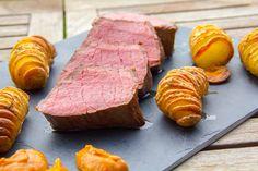 Rôti de boeuf basse température et ses pommes de terre en éventail - [les] Gourmantissimes