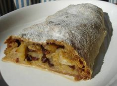Yum... Id Pinch That! | Authentic German Apple Streudel. My mom sent me this one. Must be closer to Oma's recipe!