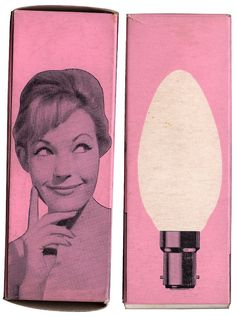 Light bulb packaging. #design #vintage #pink
