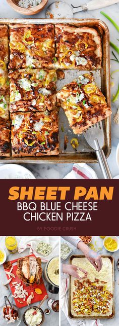Sheet Pan BBQ Blue Cheese Chicken Pizza   7 Dinners To Make This Week