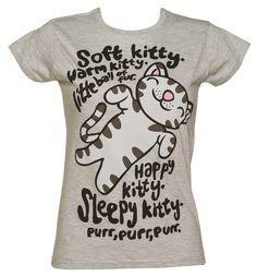 @Ashley barnes Ladies Big Bang Theory Soft Kitty T-Shirt