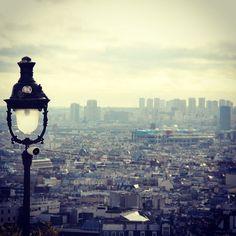 View of Paris from Montmartre #VisitParis #Pariscityvision #montmartre #vuedeparis #viewofparis #paris #parisjetaime