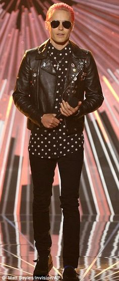 Just like old times: The 30 Seconds To Mars frontman is no stranger to music awards shows...