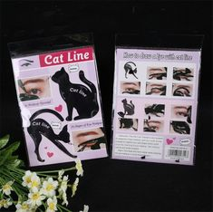Women Cat Line Pro Eye Makeup Tool Eyeliner Stencils Template Shaper Model Eyebrow Guide Makeup Tools - Eyebr - EyeBrowStencils United States - Shop Online World's Largest Best and Top Collection of EyeBrow Stencil 2020 Cat Eye Stencil, Cat Eyeliner Stencil, Eyebrow Stencil, Make Up Tools, No Eyeliner Makeup, Winged Eyeliner, Eyeliner Pencil, Eye-liner Chat, Maquillaje Diy