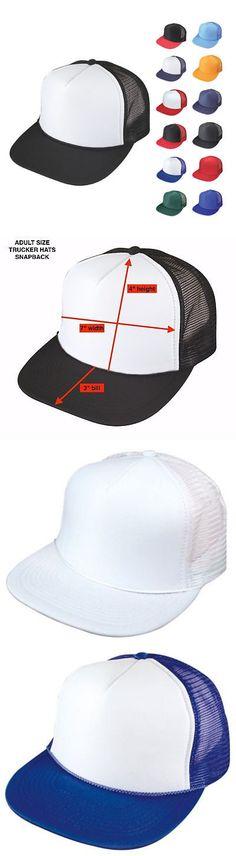 Mens Accessories 45053  100 Lot Flat Bill Blank 5 Panel Mesh Foam Trucker  Baseball Hats Caps Wholesale -  BUY IT NOW ONLY   249.99 on  eBay   accessories ... 94e60391eb0e