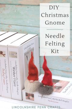 Bring some creativity to your Christmas with an easy DIY craft kit. This gnome needle felting kit is perfect for beginners, Christmas decorations or craft gifts. Even better, you can make at least two from every kit. And, at only £17.45 including UK postage it also makes a great pocket money Christmas gift. #lincolnshirefenncrafts Christmas Gnome, Christmas Makes, Craft Kits, Craft Ideas, Decor Ideas, Diy Gifts On A Budget, Creative Christmas Gifts, Needle Felting Kits, Pocket Money