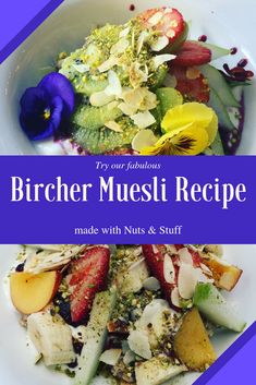 This tangy and sweet Bircher will take over your heart. And kitchen. It is unbelievably easy to make and super healthy and nutritious too. Busy mums look out! The wonder ingredient is, of course, Nuts & Stuff. So, dig into our delicious Bircher recipe that is finger licking good and so satisfying.  Don't forget to hop onto our website for new & tasty recipes every fortnight. Just bring your appetite. .  #bircher #healthybrekkie #breakfast #muesli #nutsaboutmuesli #recipe #quickrecipe… Muesli Recipe, Home Recipes, Quick Recipes, Bircher Muesli, Tasty, Yummy Food, Breakfast Bowls, Fresh Fruit
