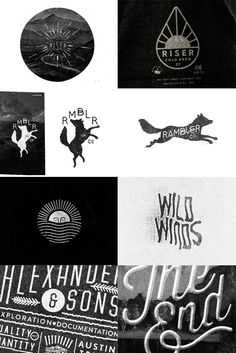 I love all of these logos. Time to start thinking of my own; def going with something black and white!