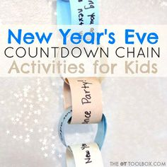 New Year's Eve Activity Kids Countdown Chain | The OT Toolbox
