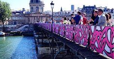 eL Seed's Calligraffiti Replaces Love Locks on Paris' Pont des Arts