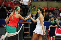Margarita Gasparyan (RUS) (right) - 2016 Fed Cup World Group Play-off - TennisForum.com