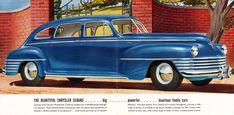 1942 Chrysler Windsor Four Door Sedan Retro Cars, Vintage Cars, Antique Cars, Chrysler Windsor, Lead Sled, Car Posters, Mopar, 1970s, Classic Cars