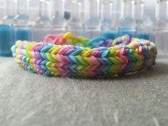 A must-have rainbow loom bracelet! Multicolor Hexagon Fishtail Bracelet by RainbowLoomLover on Etsy, $6.00