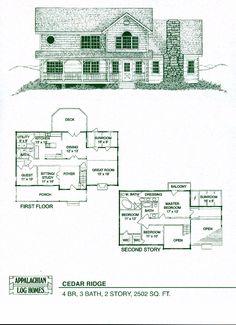 Appalachian Log Timber Homes Cedar Ridge Log Cabin Hybrid Home Floor Plan