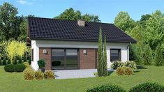 Projekt Dom przy Bukowej 18 65 m2 - koszt budowy - EXTRADOM Modern Bungalow, Dream House Plans, Cabin, Outdoor Decor, Mens Suits, Home Decor, House Ideas, Houses