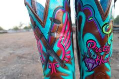 custom painted boots