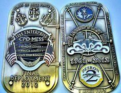 CVN 65 USS Enterprise Final Deployment Hatch Coin Chief CPO