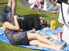 One woman fell asleep on a picnic rug in the sunshine, seemingly unaware of the party that continued to rage around her Melbourne Cup, Stakes Day, How To Fall Asleep, Rage, Finals, Picnic, Carnival, Sunshine, Woman