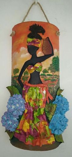 Taller Arte y Amor African Theme, African Art, Bottle Art, Bottle Crafts, African Paintings, Art Therapy Activities, Art Africain, Afro Art, Tropical Art