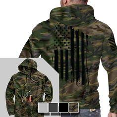 Tailgate Hoodie - America - Full Back - Nine Line Apparel | Raddest Men's Fashion Looks On The Internet: http://www.raddestlooks.org