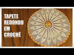 Tapete Redondo Florido de Crochê - Artes da Desi - YouTube
